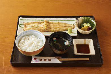 白焼き定食(松)